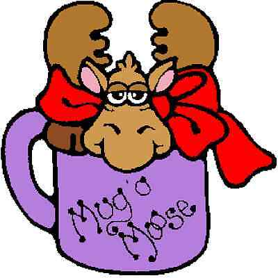 30 Custom Purple Mug O Moose Personalized Address Labels