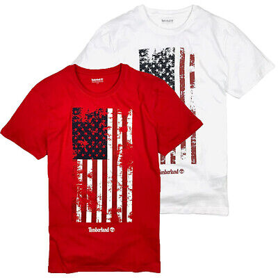 Timberland Men's Short Sleeve US American Flag T-Shirt A1Z7G - Sleeve Flag Shirt