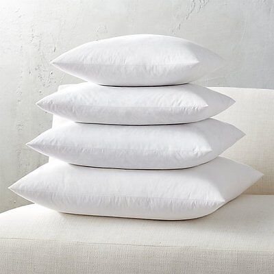 Down Square Pillow (Euro Square Pillow Insert FEATHER / DOWN - ALL SIZES!! Made in)