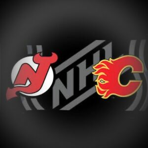 Flames vs Devils Centre Ice Row 4, 2 or 4 Tickets