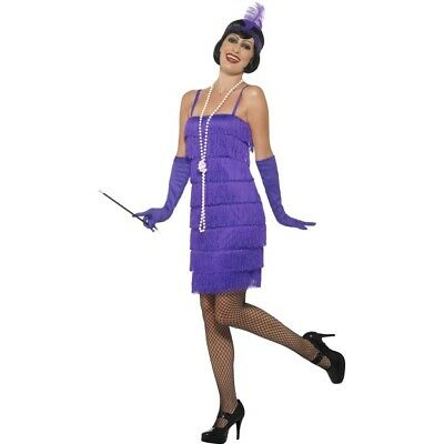 NEW Purple Flapper Roaring 20's Sexy Jazz - Twenties Ladies Fancy Dress - Roaring Twenties Dresses Flappers