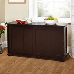 Good Espresso Sideboard Buffet Cabinet Stackable Storage Doors Kitchen Dining  Decor