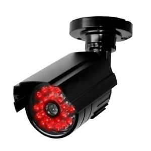 Dummy Security Camera with Night / Day Switch - Modern Realistic Design