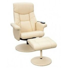 Unused Supra MASSAGE, SWIVEL, RECLINE Chair with Footstool