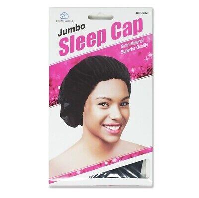 Large Night Sleeping Cap Hair Bonnet Hat Head Cover Satin Wide Band Adjust C G4