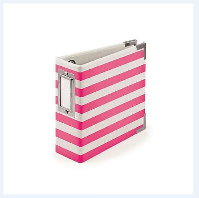 We R memory Keepers 4x4 Ring Album ~ NEON PINK  Stripes -10pg ~30823-2 ()