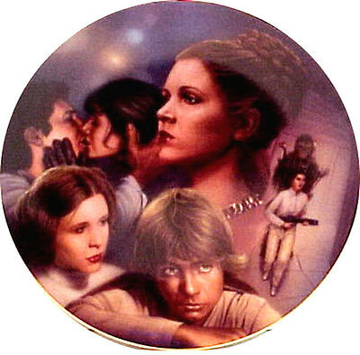 Vintage Star Wars Heroes & Villains Ceramic Collector Plate- Leia Montage