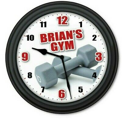Total Gym Wall Clock - Fitness Exercise Body Equipment - Personal Trainer Gift