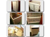 Mamas & Papas nursery furniture - cot, changing table, wardrobe, bedding, extras BARGAIN
