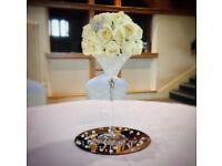 10 X Martini Glass Wedding Centrepieces - 40cm High - £40