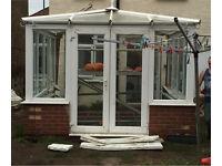 White double glazed conservatory