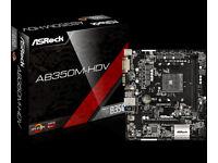 ASRock AB350M-HDV Socket NEW