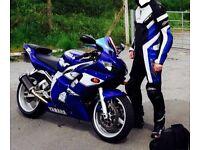 RST blue motorcycle bike leathers size uk 42 eu 52 (not alpinestars etc)
