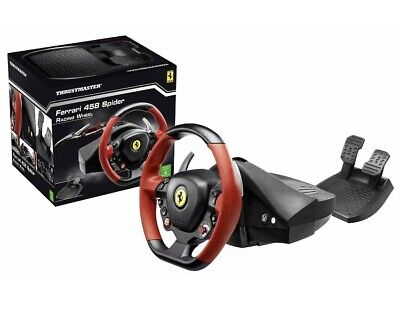 Xbox One Steering Wheel Controller Driving Pedals Racing Video Game 458 Ferrari
