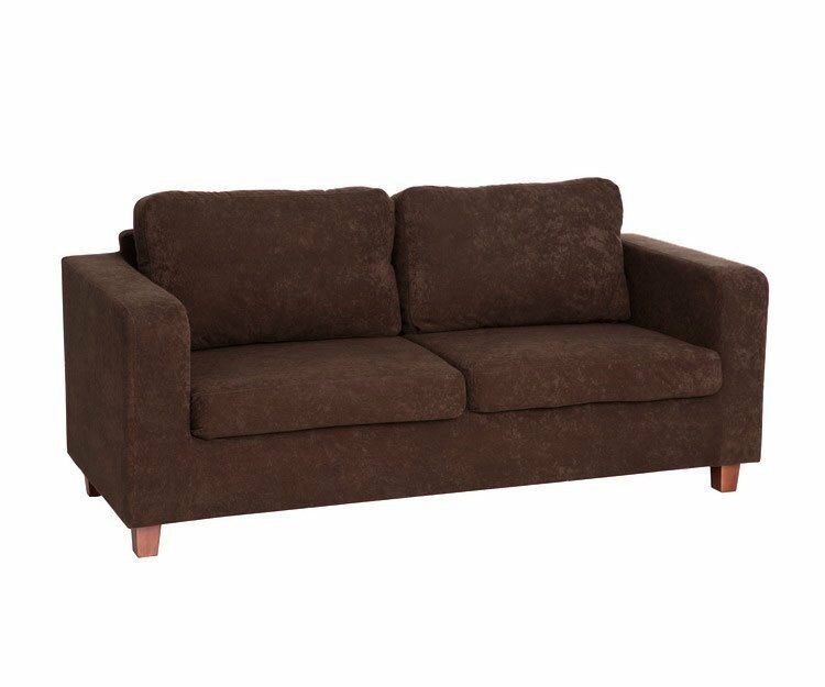 Lucy 3 seater chocolate sofa