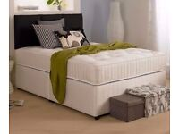 Double divan bed + orthopedic mattress - brand new