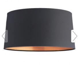 Habitat copper lined lampshade diameter 38 cm