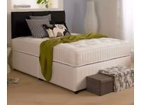 Brand new- divan double bed + ortho mattress