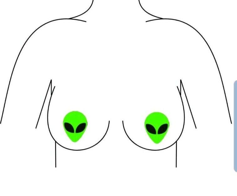 Alien Nipple Pasties Neon Green Pasties