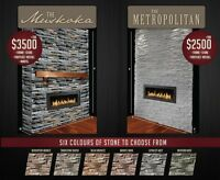 Same Day Fireplace! Cultured Stone & Napoleon Fireplace. SALE!