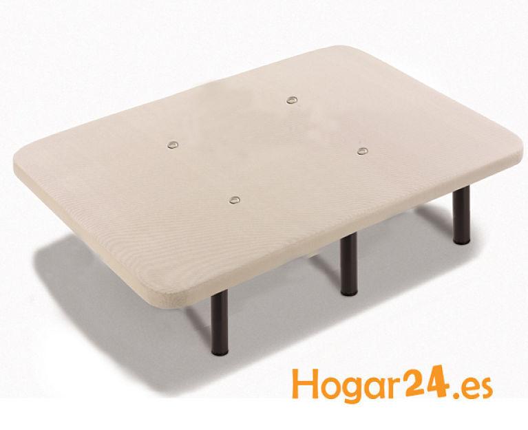 HOGAR24 ES Base Tapizada con Tejido 3D y V/álculas de Transpiraci/ón y 6 Patas De Metal De 25.5 cm 90x190cm