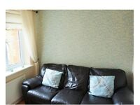 Leather 3 seater sofa, dark chocolate brown
