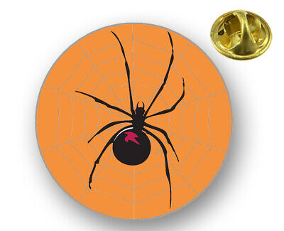 Halloween Black Widow Spider Lapel Hat Cap Pin Aluminum Clutch Back Large - Halloween Black Widow