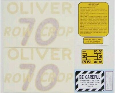 Oliver 70 Row Crop Tractor Decal Set 1948 To 1954