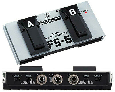 BRAND NIB BOSS FS6 BOSS PEDAL FS-6 DUAL FOOTSWITCH FREE FENDER PICKS.