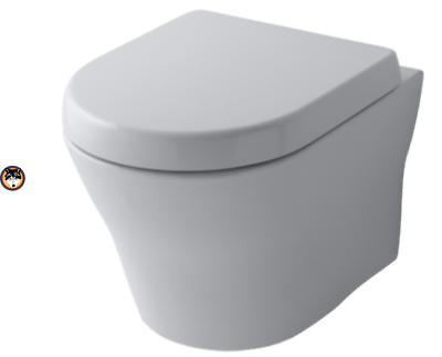 TOTO MH Wand WC Toilette Tornado Flush spülrandlos CW162Y + WC-Sitz Softclose