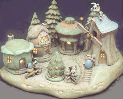 Ceramic Bisque Ready to Paint Easter Village (5) light electrical kit included