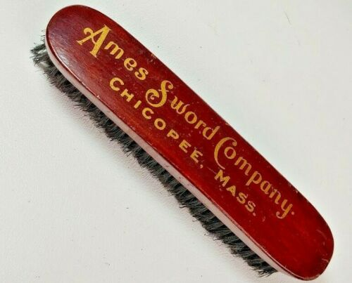 Ames Sword Company Chicopee Mass Advertising Officers Uniform Brush 1880s -1900s