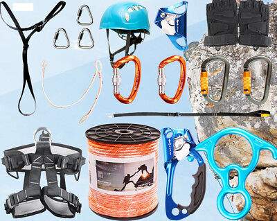 A Outdoor Rock-climbing Downhill Full Body Safety Harness Equipment Rescue Kit