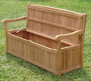 Noved Grade A Teak 5 Feet Outdoor Garden Patio Storage Bench Box Furniture Ne