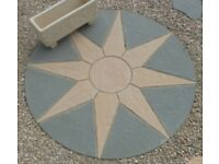 6ft Paving Sun Circle Garden Patio Feature Kit