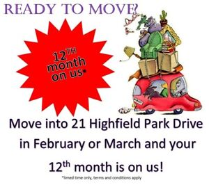 SPECIAL OFFER!! Two Bedroom at 21 Highfield Park Drive