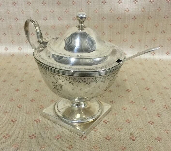 18th Century Sterling Mustard Pot By Robert Hennell I 1786 Early English Silver