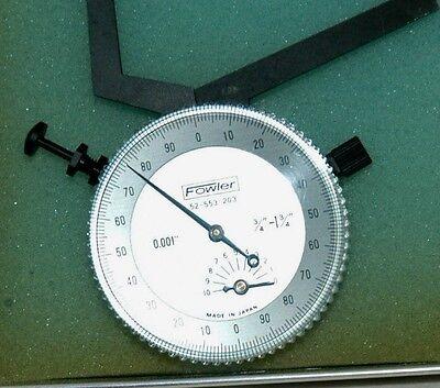 Fowler52-553-203 Dial Caliper Gauge .750-1.75