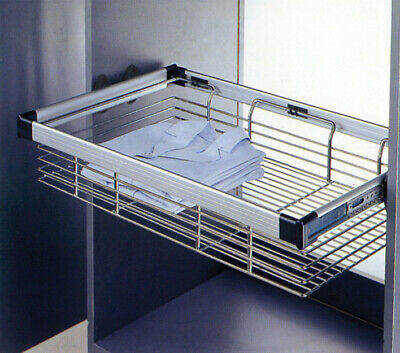Hafele Bedroom / Wardrobe Pull out Storage Basket 7 sizes from 400 mm to 1000 mm 400 Mm Basket