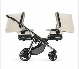 Bebecar one and two double pram