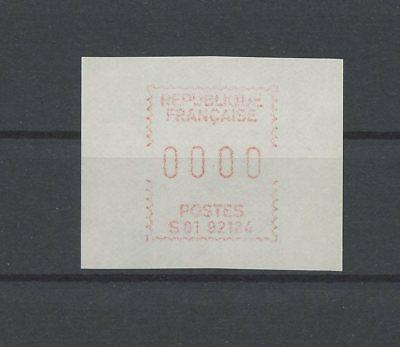 "FRANCE ATM AUTOMATENMARKE NULLDRUCK ""0000"" ** MNH RARE!! m1122"