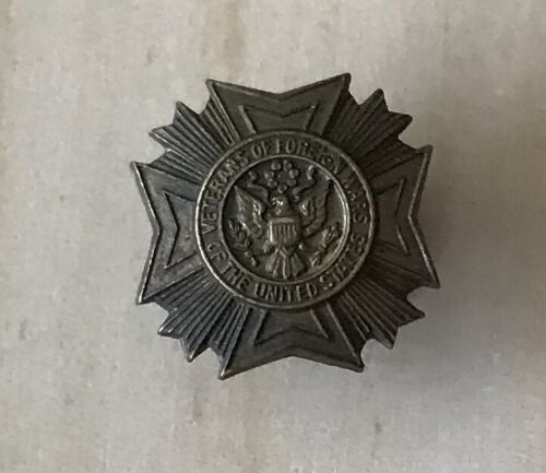 Early VFW Bronze Screw Back Lapel Pin Veterans of Foreign Wars