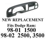 Buy Dash Cap 98 99 00 01 02 Dodge Ram cover dashboard