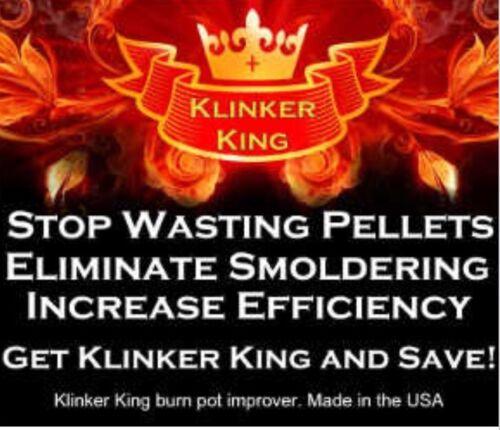 """Klinkerking""Pellet Stove Burn pot Improver. ""New product fo"