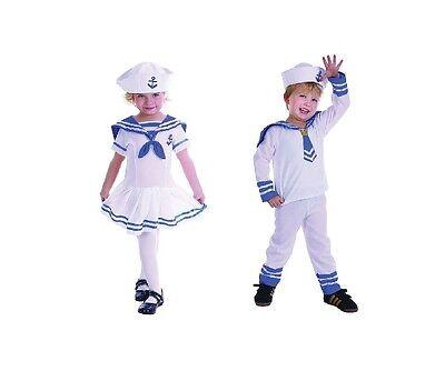 Süß Jungen Und Mädchen Kleinkind Matrose Anzug Militär Kostüm