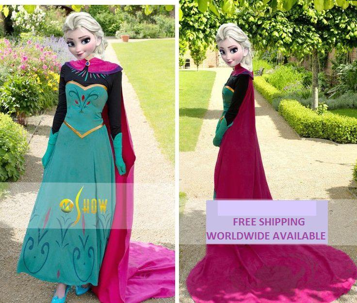 Details zu Elsa Anna Krönung Erwachsene Damen Queen Cosplay Kostüm Umhang UK