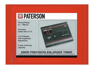 Paterson 2000D Precision Enlarger Timer PTP745