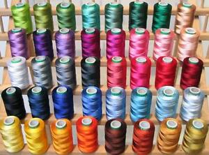 NEW-40-LARGE-EMBROIDERY-THREADS-Country-SET-for-Brother