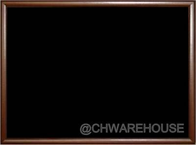 Magnetic Black Chalk Board18x24 Dark Tone Frame W Metal Reinforced Backing