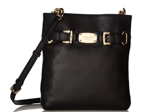 30ded5daf30c Michael Kors Hamilton Large Leather Crossbody - Black for sale ...